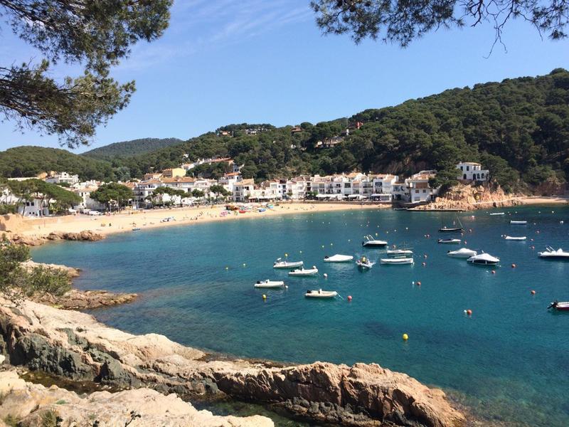 Spanien Costa Brava Callela de Palafrugell Bucht mit Fischerbooten | COS10100