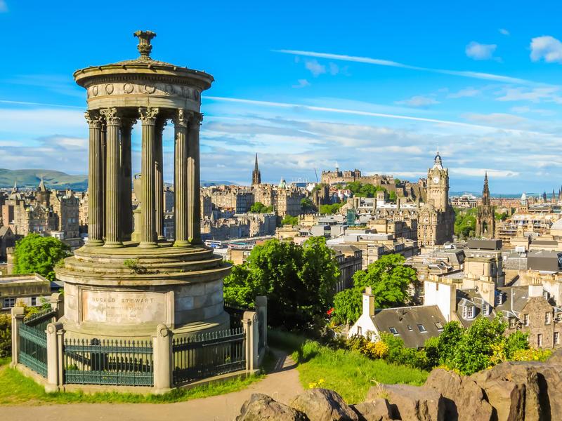 Edinburgh, Panoramablick vom Calton Hill | EDI90400