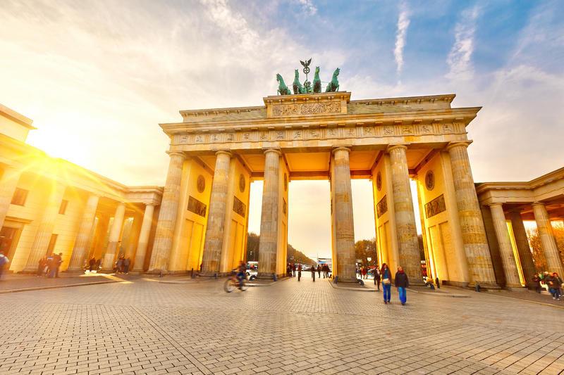 Deutschland Berlin Brandenburger Tor Sonnenaufgang | DEU11800