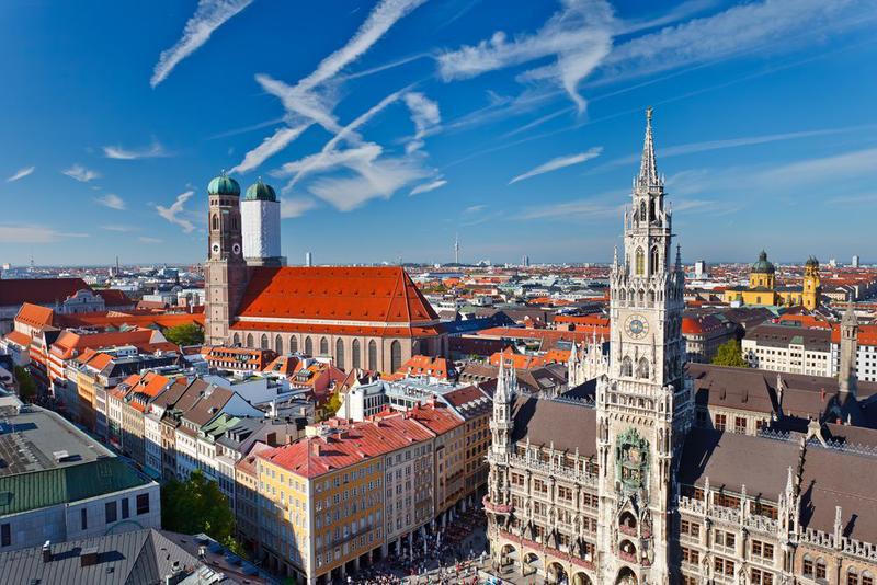 München, Marienplatz und Frauenkirche
